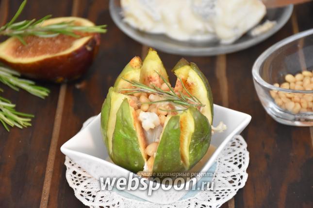 Фото Инжир, запечённый с сыром Горгонзола и кедровыми орехами