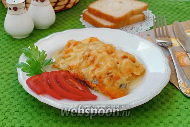Фото Зубатка запечённая в фольге с луком и морковью