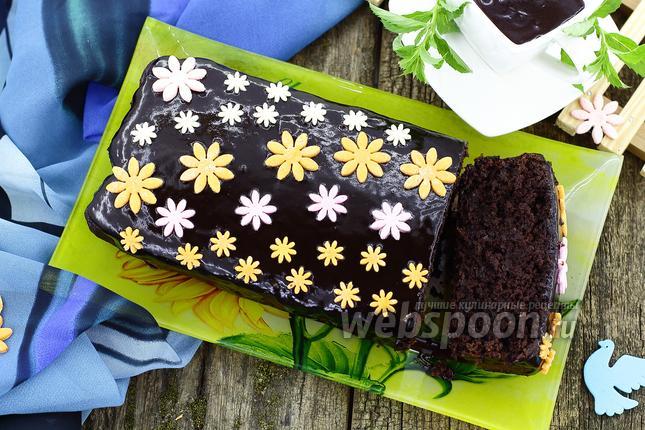 Фото Шоколадный кекс с чёрной фасолью
