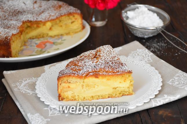 Фото Яблочно-кокосовый пирог