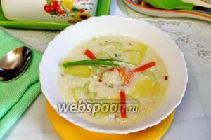 Рыбный суп с картошкой и креветками