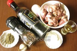 Ингредиенты: сердечки, яйца, смесь трав, соевый соус, соль, перец, масло для жарки.