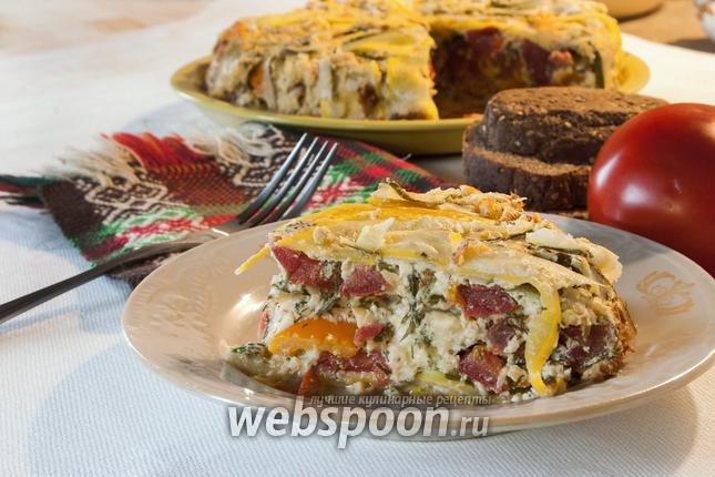 Фото Террин из цукини с сыром и помидорами