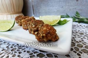 Морские гребешки в ореховой панировке