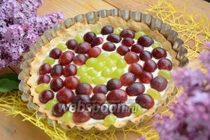 Тарт с виноградом