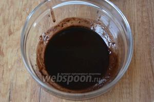 Шоколадные дропсы растопить на водяной бане.