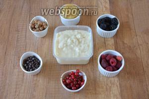 Для приготовления необходимо  песочное тесто , заварной крем, ежевика, белая смородина, красная смородина, малина, шоколадные дропсы.