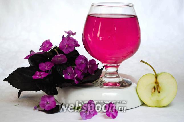 Фото Яблочный напиток с базиликом и мятой
