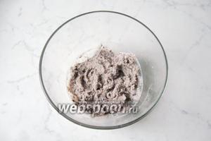 Взбить блендером фасоль с молоком до консистенции пюре.