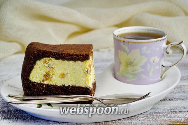 Фото Ватрушка в мультиварке шоколадная
