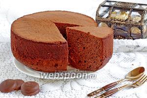Шоколадный бисквит со сгущёнкой и шоколадной пастой