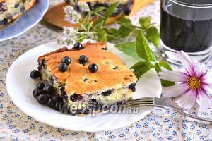 Пирог с черникой и рикоттой