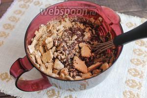 Далее — печенье. Можно и ещё орехи рубленные. Ну, это на ваш вкус.