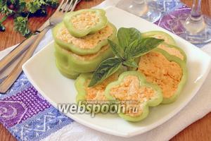 Перец фаршированный сыром и чесноком