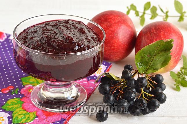 как варить варенье из яблок с черноплодной рябиной