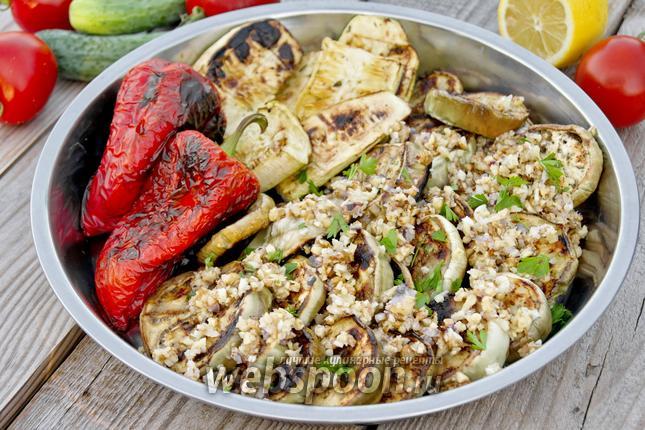 Рецепт Белые баклажаны с ореховым соусом