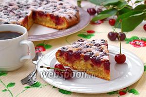 Вишнёвый пирог быстрый