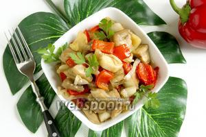 Овощи в соевом соусе в духовке
