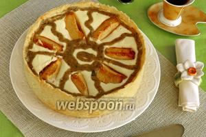 Творожно-фруктовый торт с курдом из базилика «Карусель»