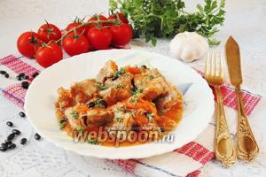 Жаркое из свинины с чёрной фасолью