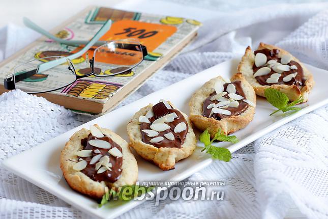 Фото Печенье «Лодочки с шоколадом»