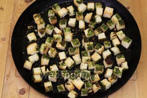 Ароматные зелёные сухарики готовы. Приглашаю похрустеть!
