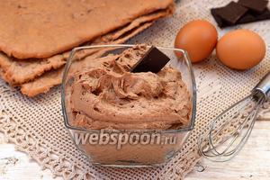Заварной шоколадный крем на желтках
