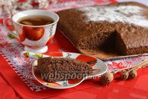 Шоколадно-маковый бисквит