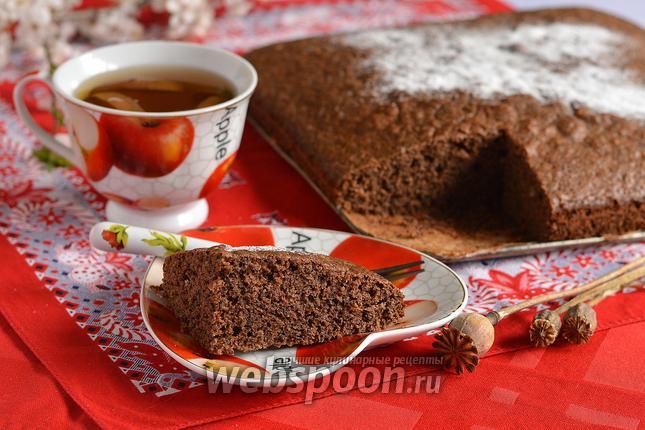 Фото Шоколадно-маковый бисквит