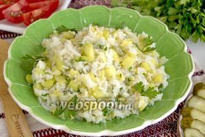 Кабачки тушёные с рисом