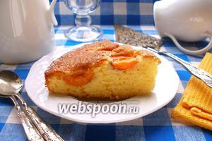 Сахарный абрикосовый пирог