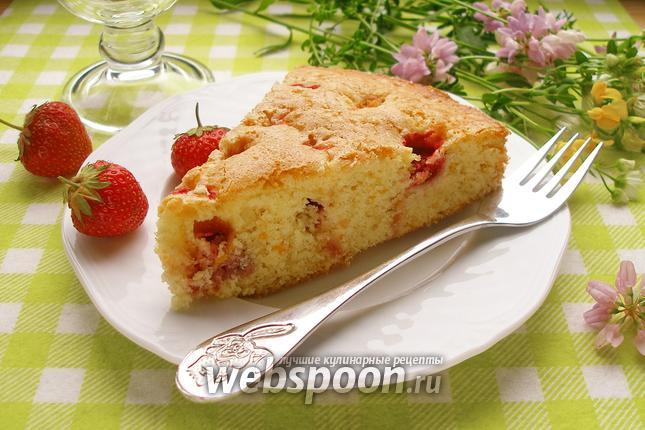 Фото Сахарный клубничный пирог