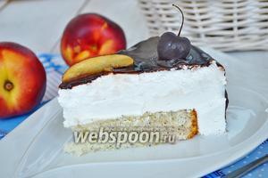 Торт с суфле на растительных сливках