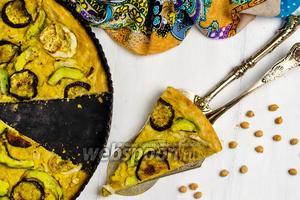 Веганская пицца с баклажанами
