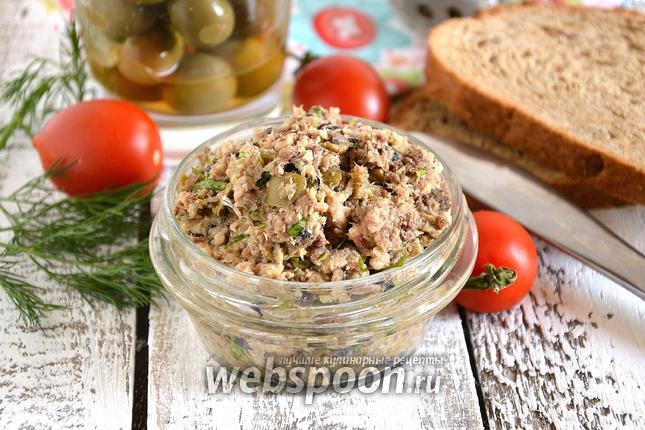 Фото Паштет из сардин с оливками