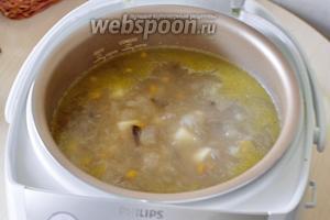 Включите режим «Суп» на 1 час. После приготовления мультиварка оповестит вас звуковым сигналом, осталось только разлить суп по тарелкам, добавить свежей зелени укропа и подать на стол. Приятного аппетита!
