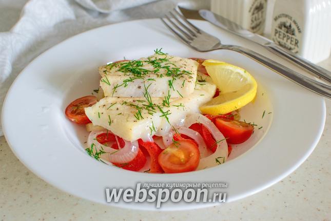 Фото Зубатка с овощами в пергаменте