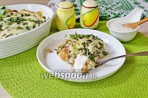 Запеканка из филе минтая и цветной капусты