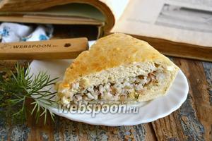 Пирог с сардинами и рисом