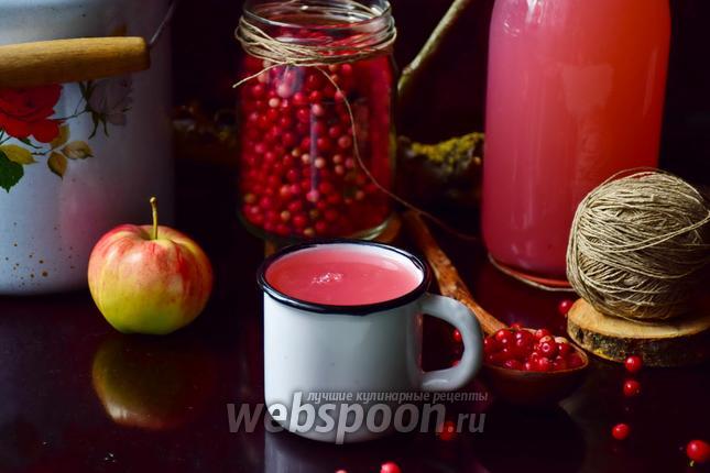 Фото Кисель бруснично-яблочный