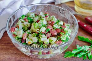 Салат из фасоли и картофеля