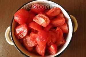 Удобно подготовить всю партию томатов. Количество условное, зависит от размера помидоров.
