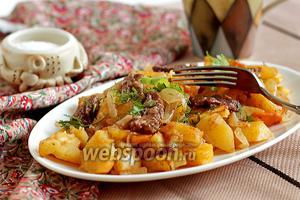 Картофель с мясом в рукаве