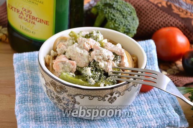 Фото Голец в сливочном соусе с брокколи