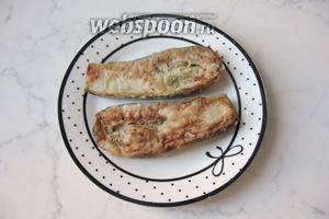 Шницели из баклажанов готовы. Подавать в тёплом виде с чесночным соусом. Хотя, холодные тоже очень вкусные.