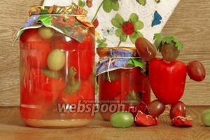 Перец фаршированный виноградом на зиму