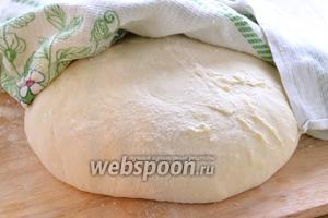 Из указанных продуктов замесите  тесто  и дайте ему подойти.