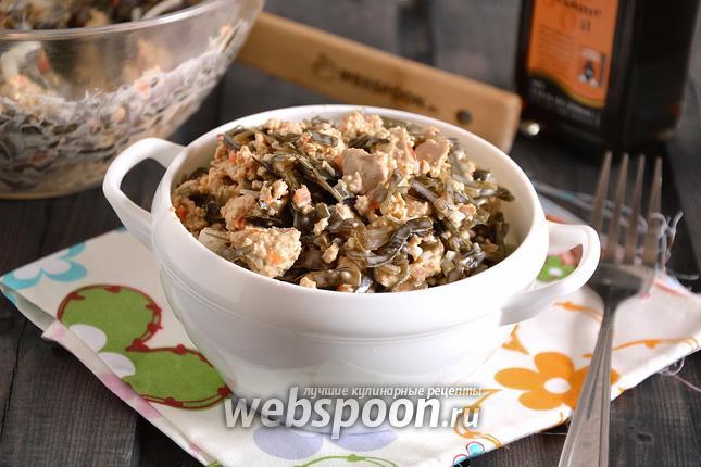 Фото Салат из морской капусты с тофу
