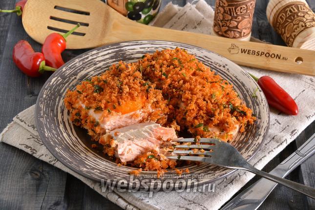 Фото Кижуч с помидорами в духовке