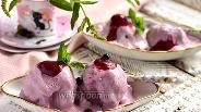 Фото рецепта Мороженое из маскарпоне со смородиновым курдом